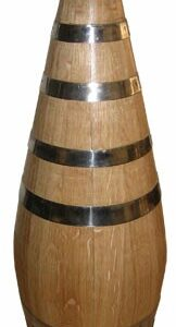 Botella de roble con tapón de madera