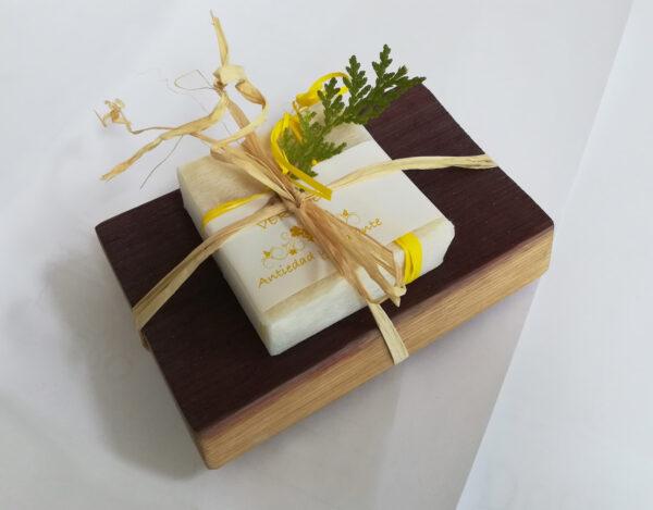 jabonera con jabón de verdejo