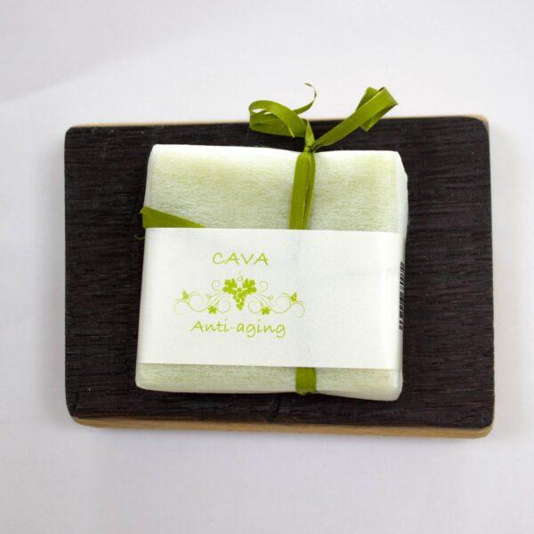 jabonera con jabón de cava