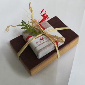 jabonera con jabón de vino Merlot